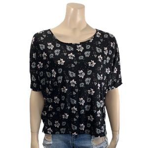 French Connection Black Floral Shirt